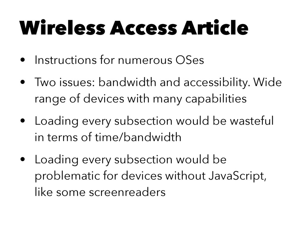 Wireless Access Article • Instructions for nume...
