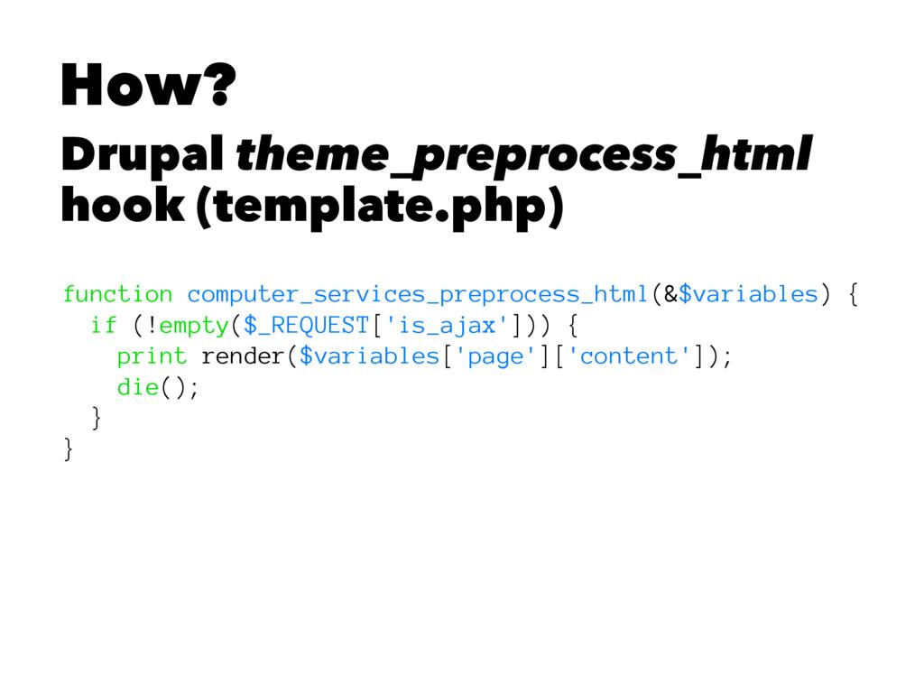 How? Drupal theme_preprocess_html hook (templat...