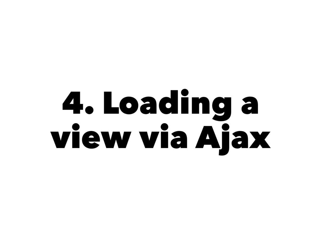 4. Loading a view via Ajax