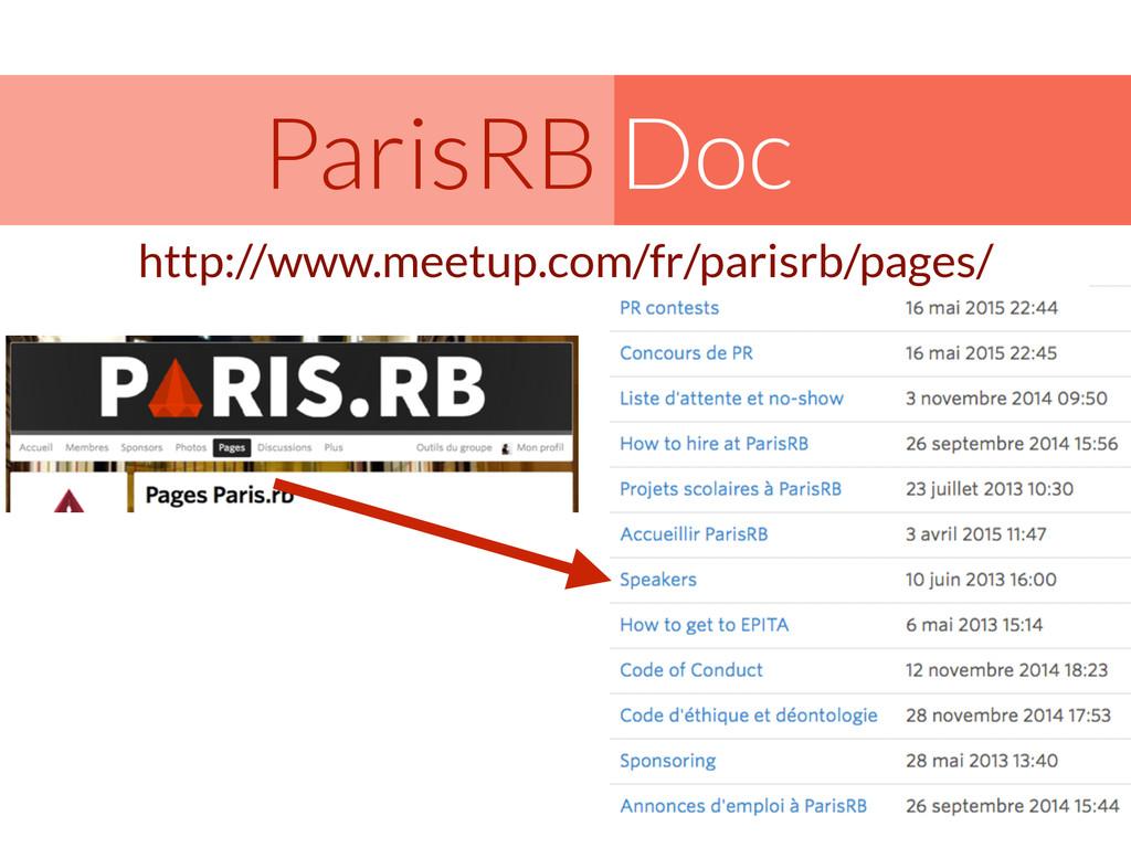 Doc ParisRB http://www.meetup.com/fr/parisrb/pa...