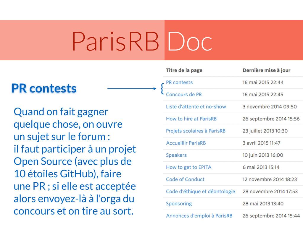 Doc ParisRB Quand on fait gagner quelque chose,...