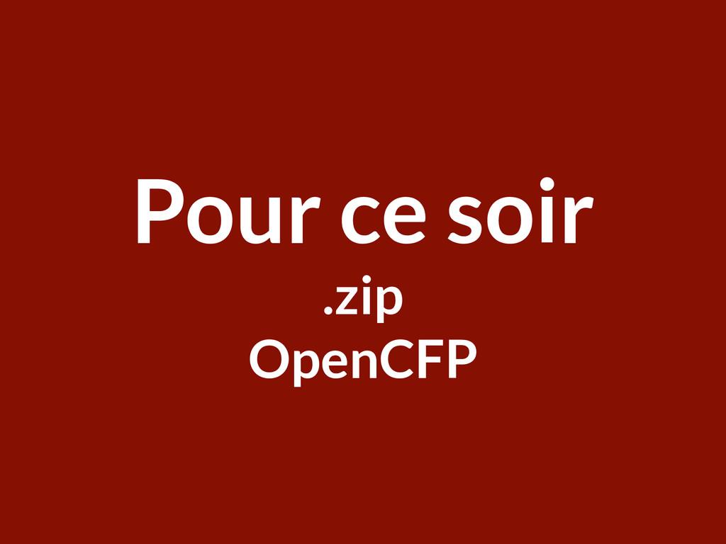 Welcome ParisRB Pour ce soir .zip OpenCFP