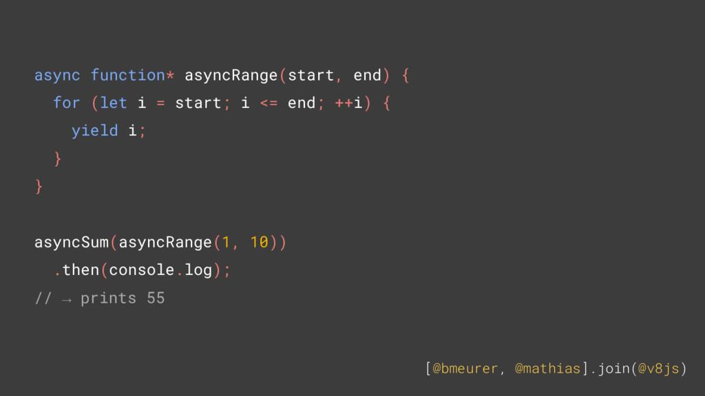 [@bmeurer, @mathias].join(@v8js) async function...