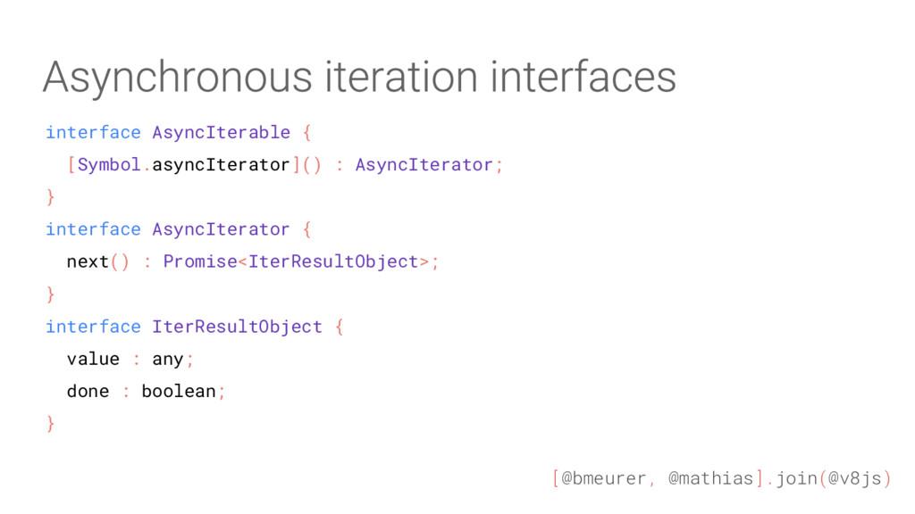 [@bmeurer, @mathias].join(@v8js) interface Asyn...