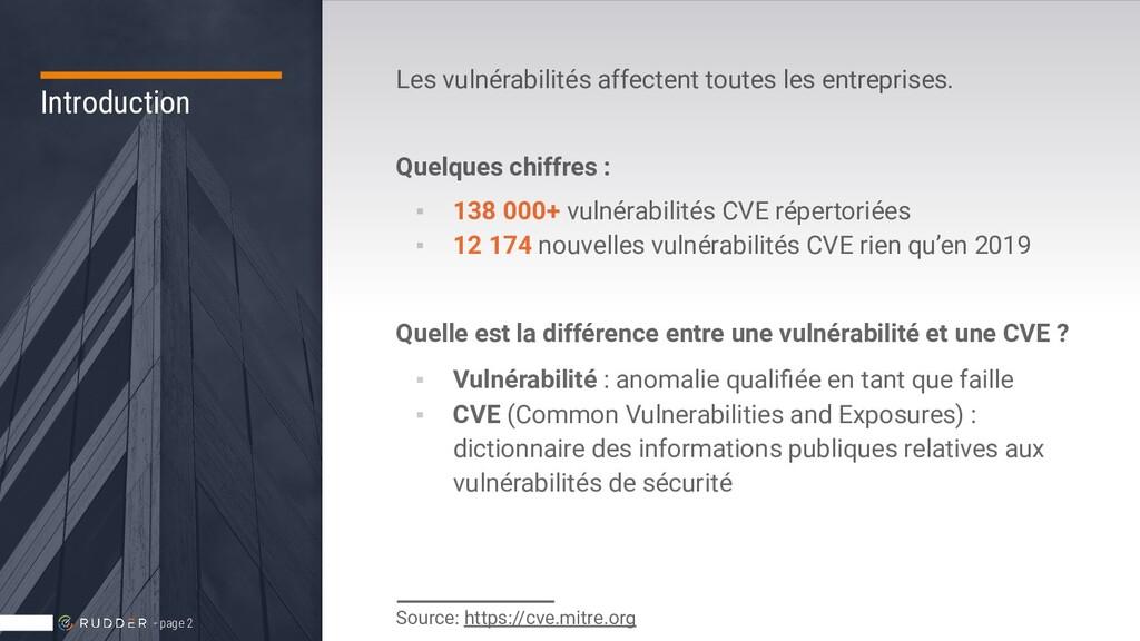 Introduction Les vulnérabilités affectent toute...