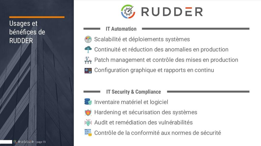 Usages et bénéfices de RUDDER - page 19 IT Autom...