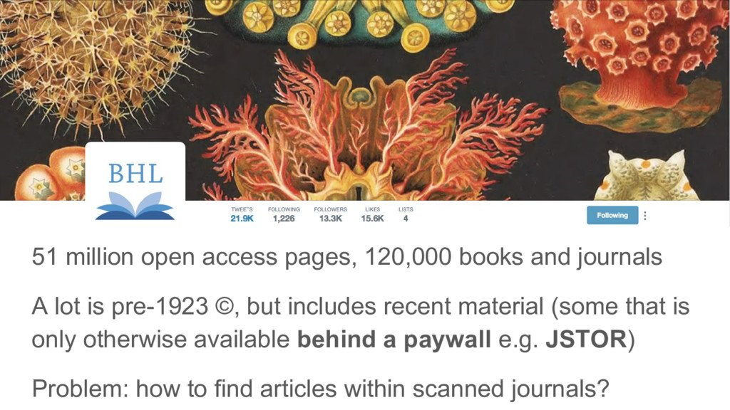 51 million open access pages, 120,000 books and...