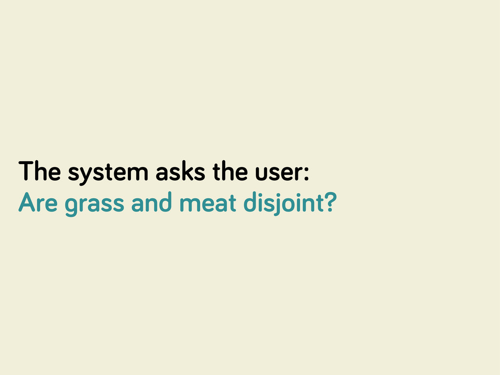 The system asks the user: Are rass and meat dis...