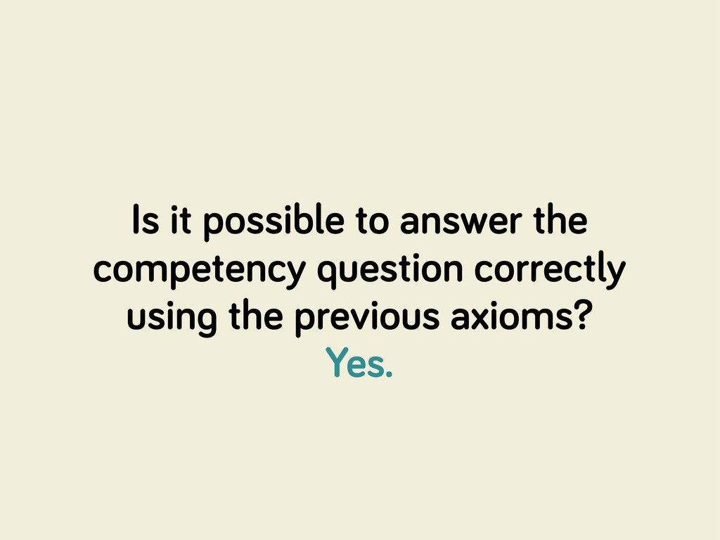Is it possible to answer the competency questio...