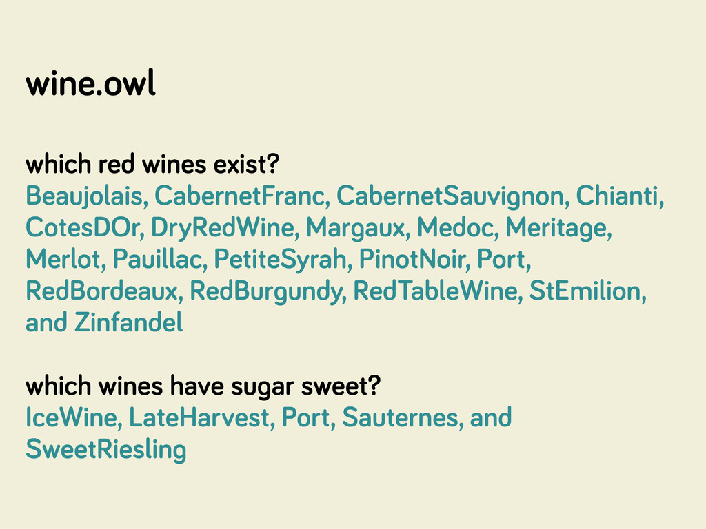 wine.owl which red wines exist? Beaujolais, Cab...