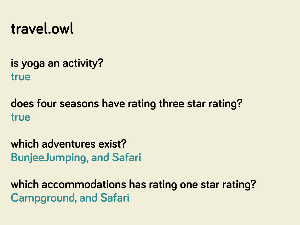 travel.owl is yo a an activity? true does four ...