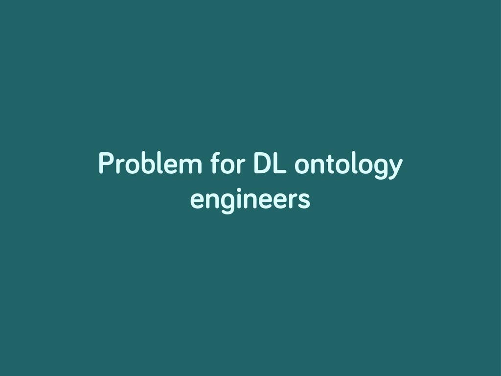 Problem for DL ontolo y en ineers