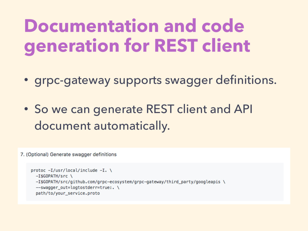 Documentation and code generation for REST clie...