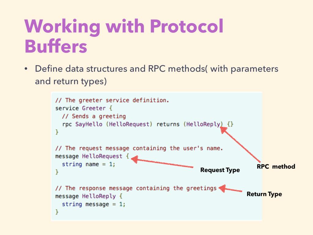 Working with Protocol Buffers • Define data stru...