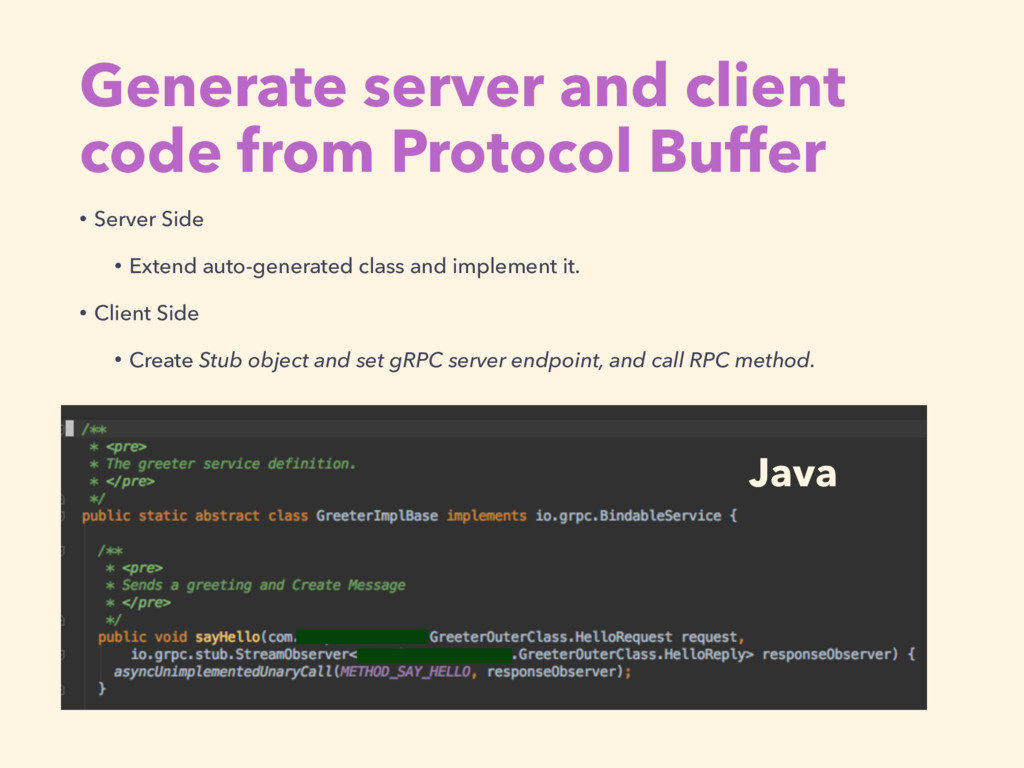 Generate server and client code from Protocol B...