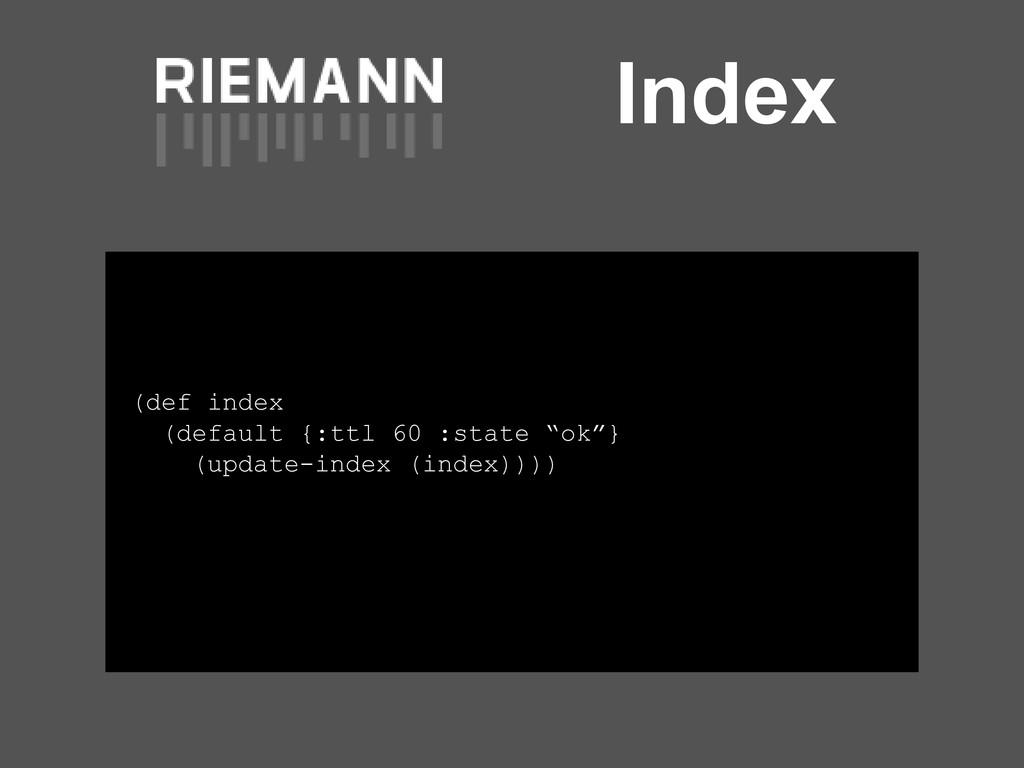 "Index (def index (default {:ttl 60 :state ""ok""}..."
