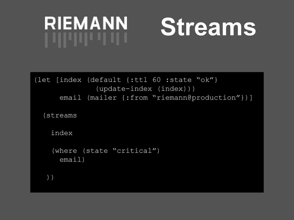 """Streams (let [index (default {:ttl 60 :state """"o..."""