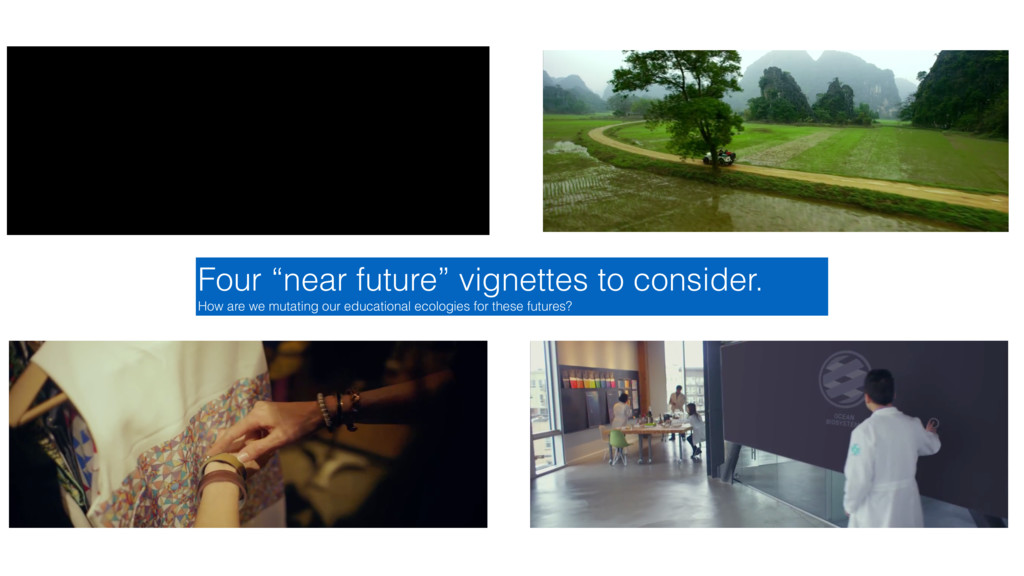 """Four """"near future"""" vignettes to consider. How a..."""