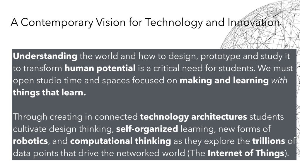 Understanding the world and how to design, prot...