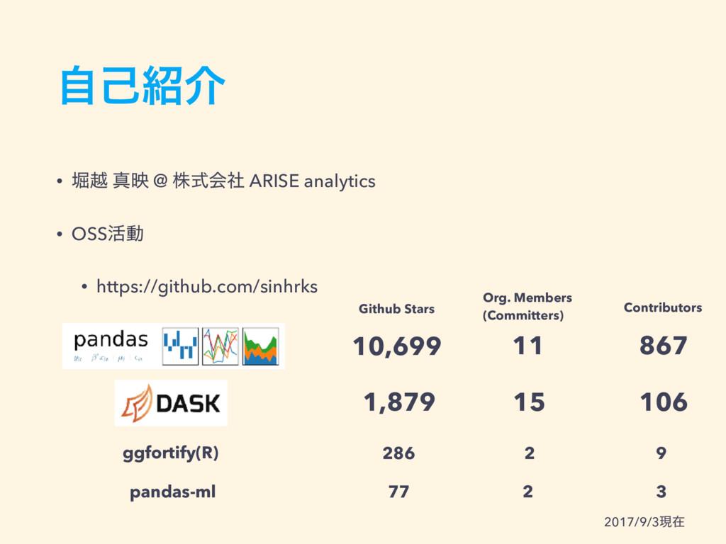 • ງӽ ਅө @ גࣜձࣾ ARISE analytics • OSS׆ಈ • https:...