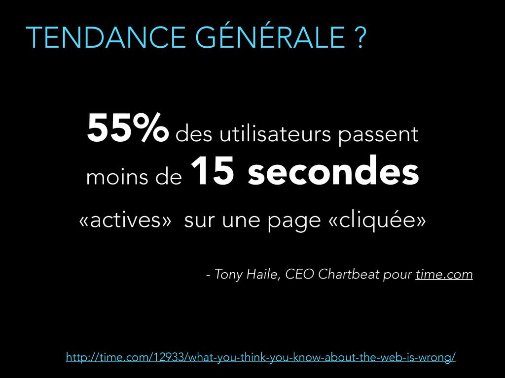 TENDANCE GÉNÉRALE ? 55% des utilisateurs passen...