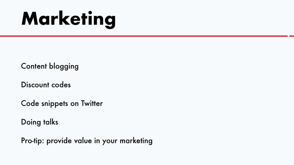 Marketing Content blogging   Discount codes   C...