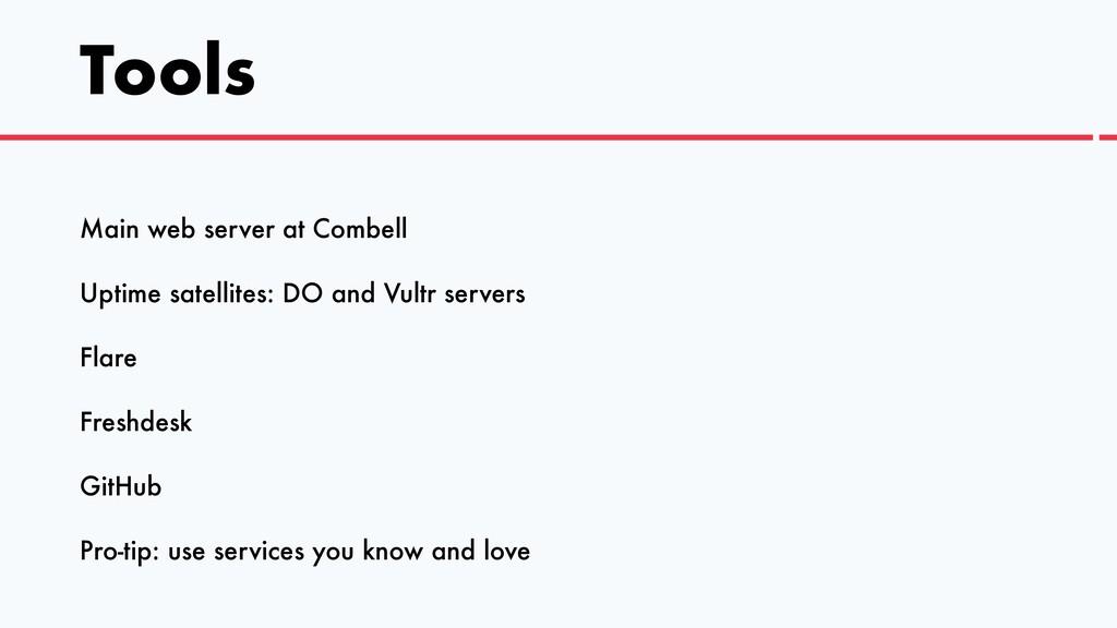 Tools Main web server at Combell   Uptime satel...