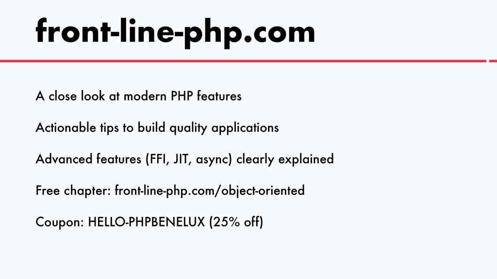 front-line-php.com A close look at modern PHP f...
