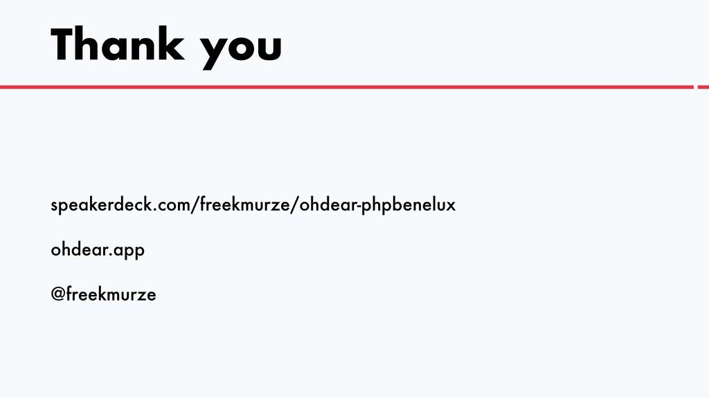 speakerdeck.com/freekmurze/ohdear-phpbenelux   ...