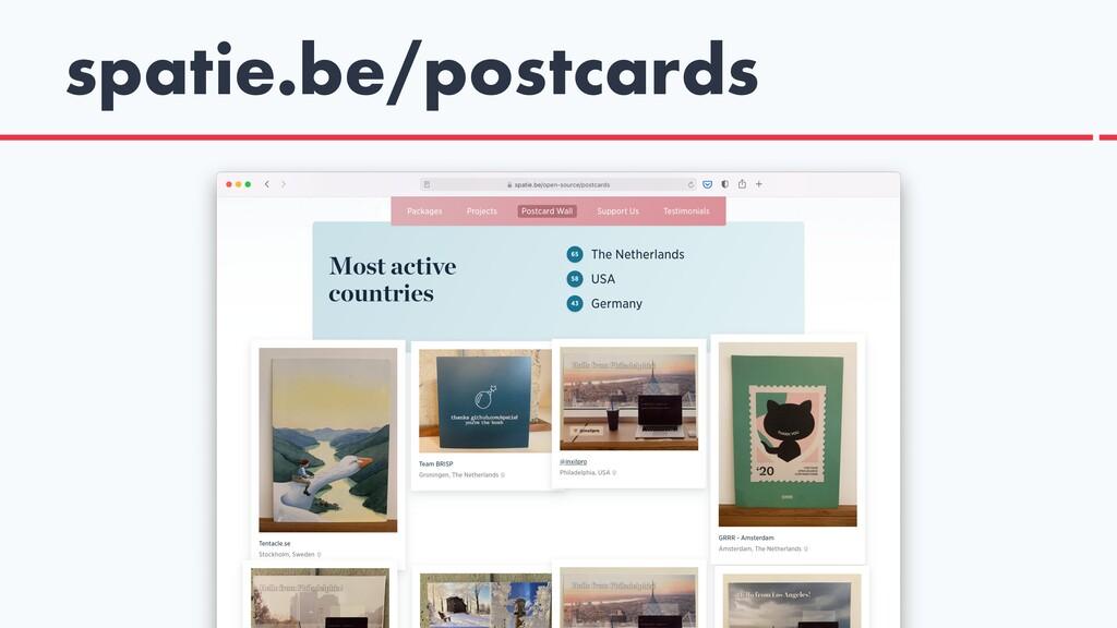 spatie.be/postcards