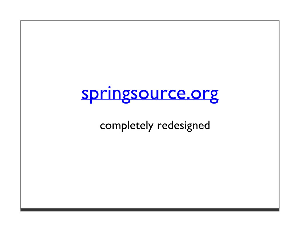 springsource.org completely redesigned