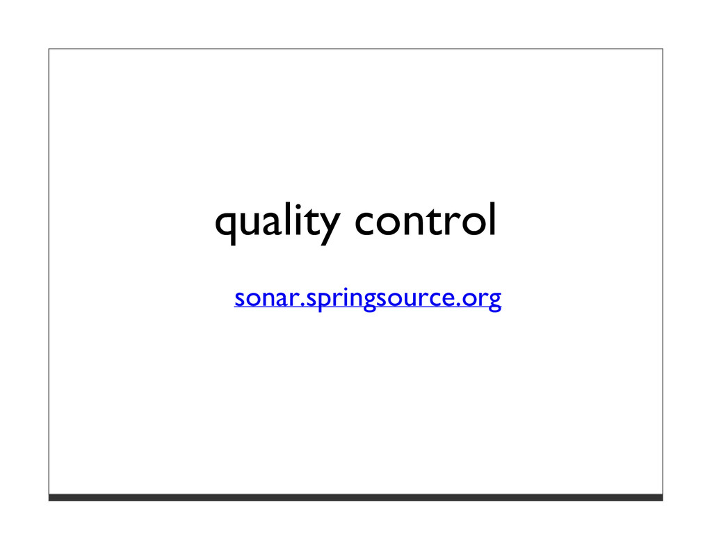 quality control sonar.springsource.org
