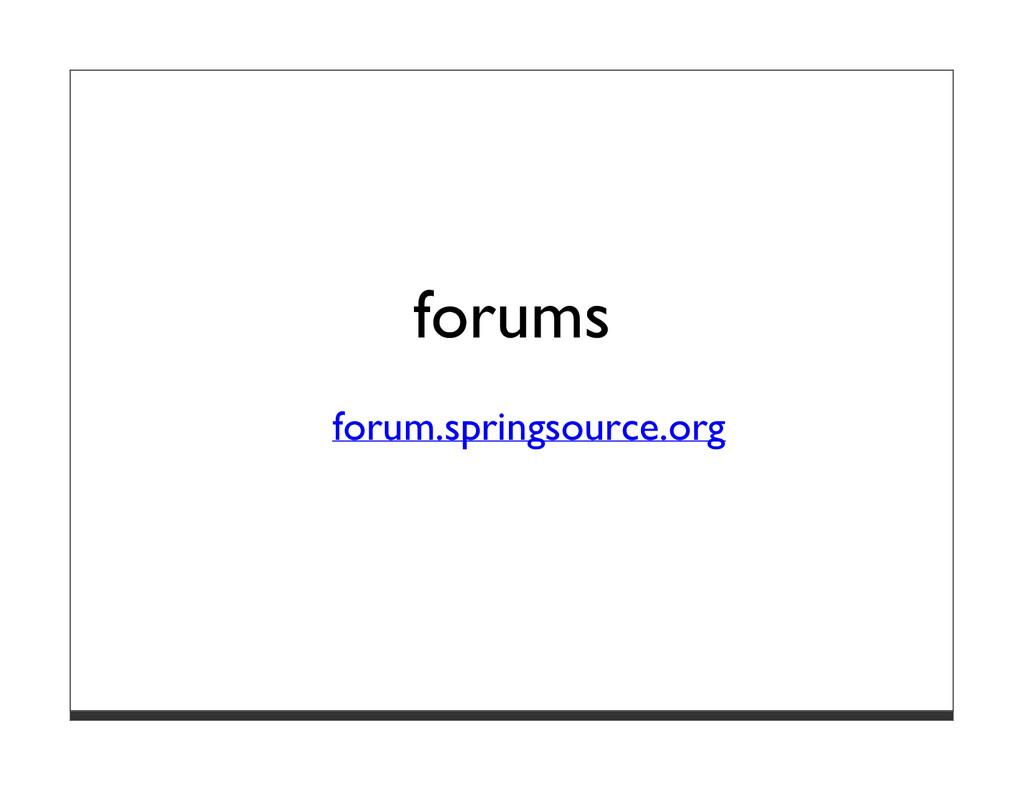 forums forum.springsource.org