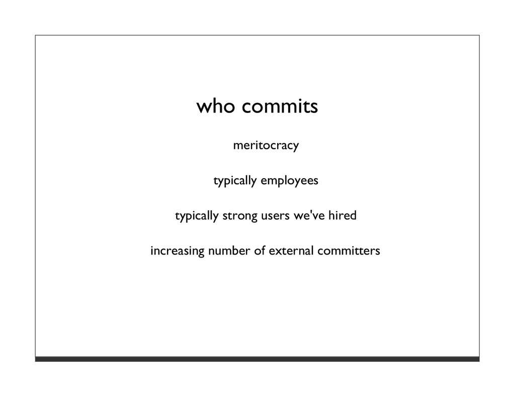 who commits meritocracy typically employees typ...