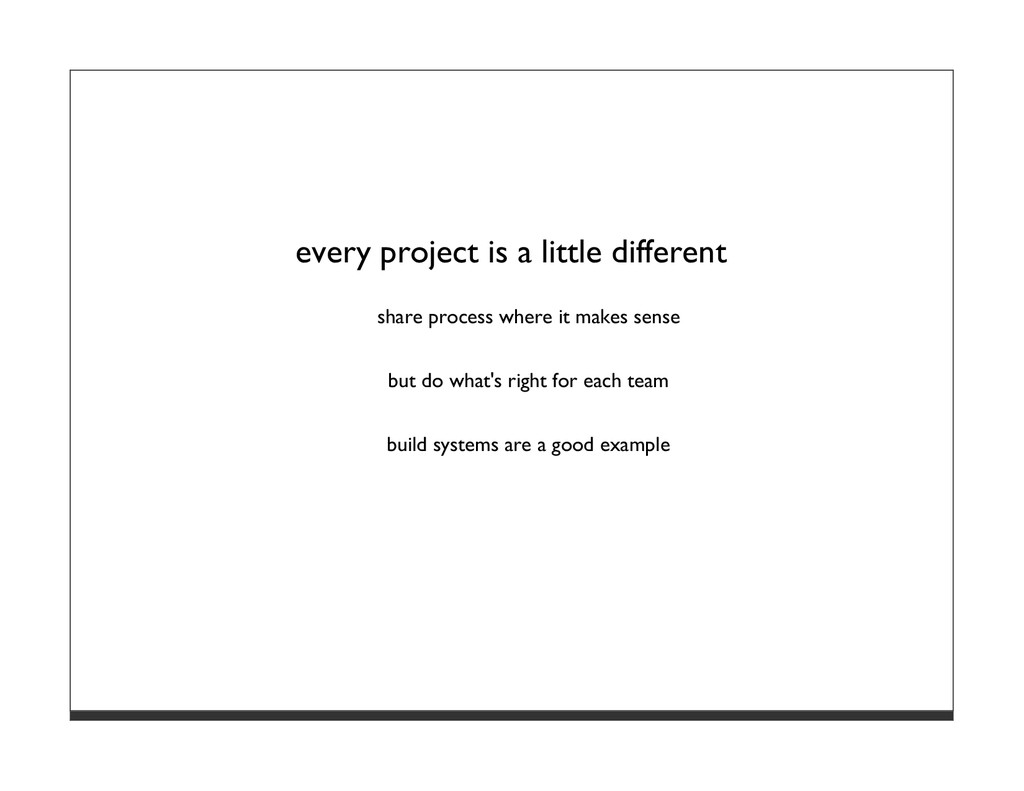 every project is a little different share proce...