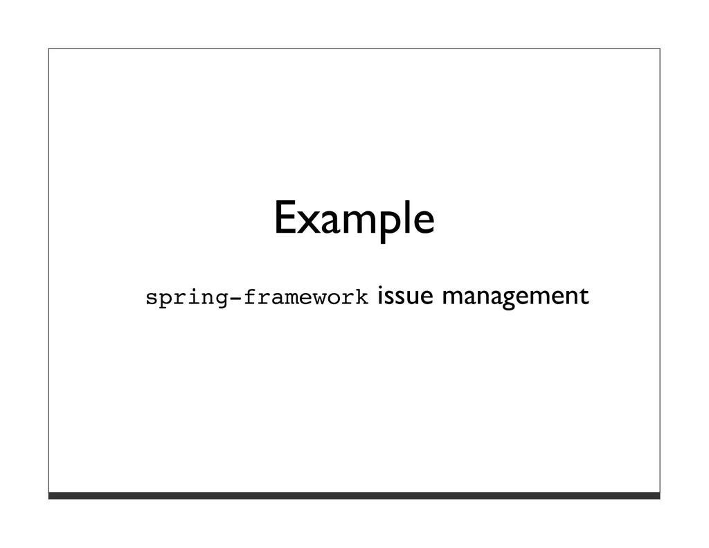 Example spring-framework issue management