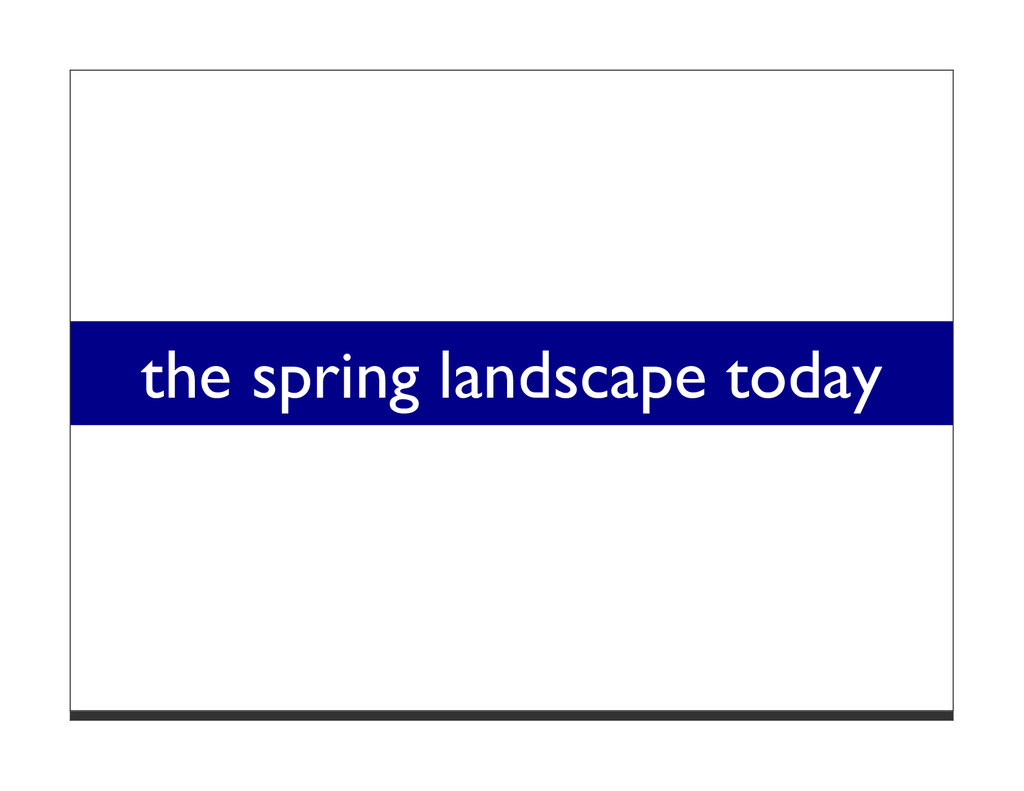 the spring landscape today