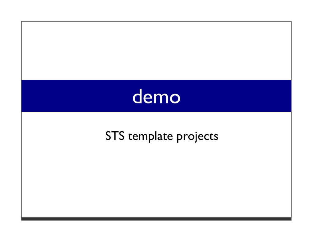 demo STS template projects
