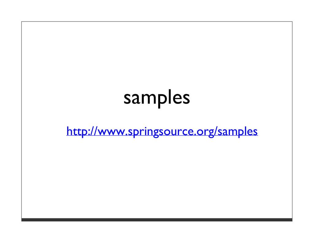 samples http://www.springsource.org/samples