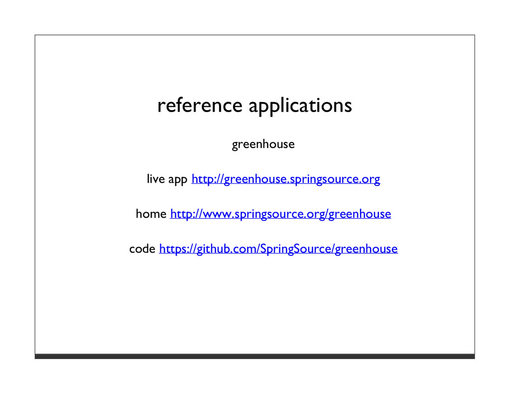 reference applications greenhouse live app http...