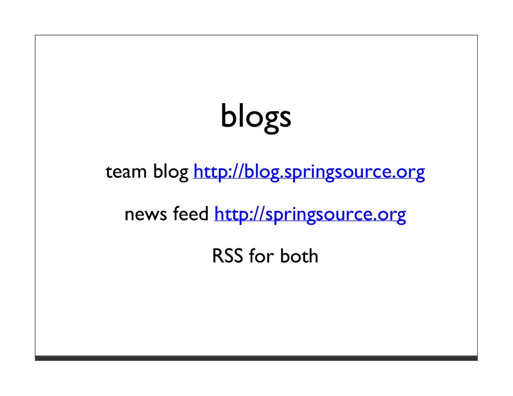 blogs team blog http://blog.springsource.org ne...