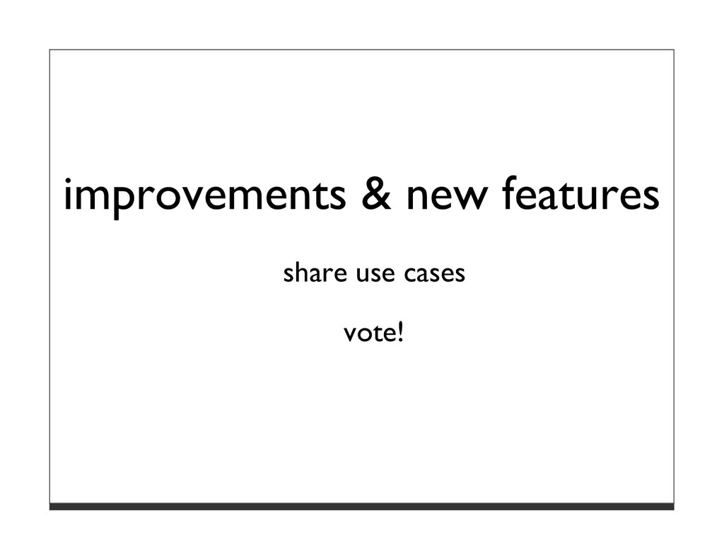 improvements & new features share use cases vot...