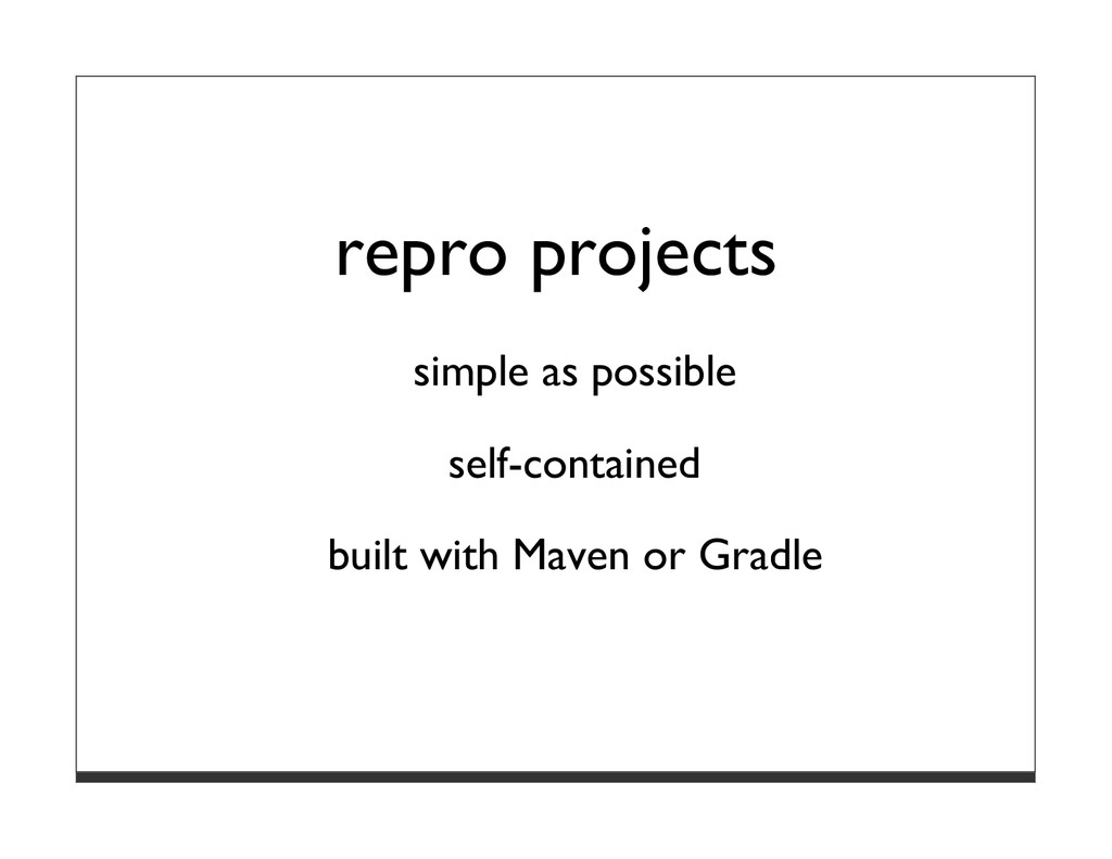 repro projects simple as possible self-containe...