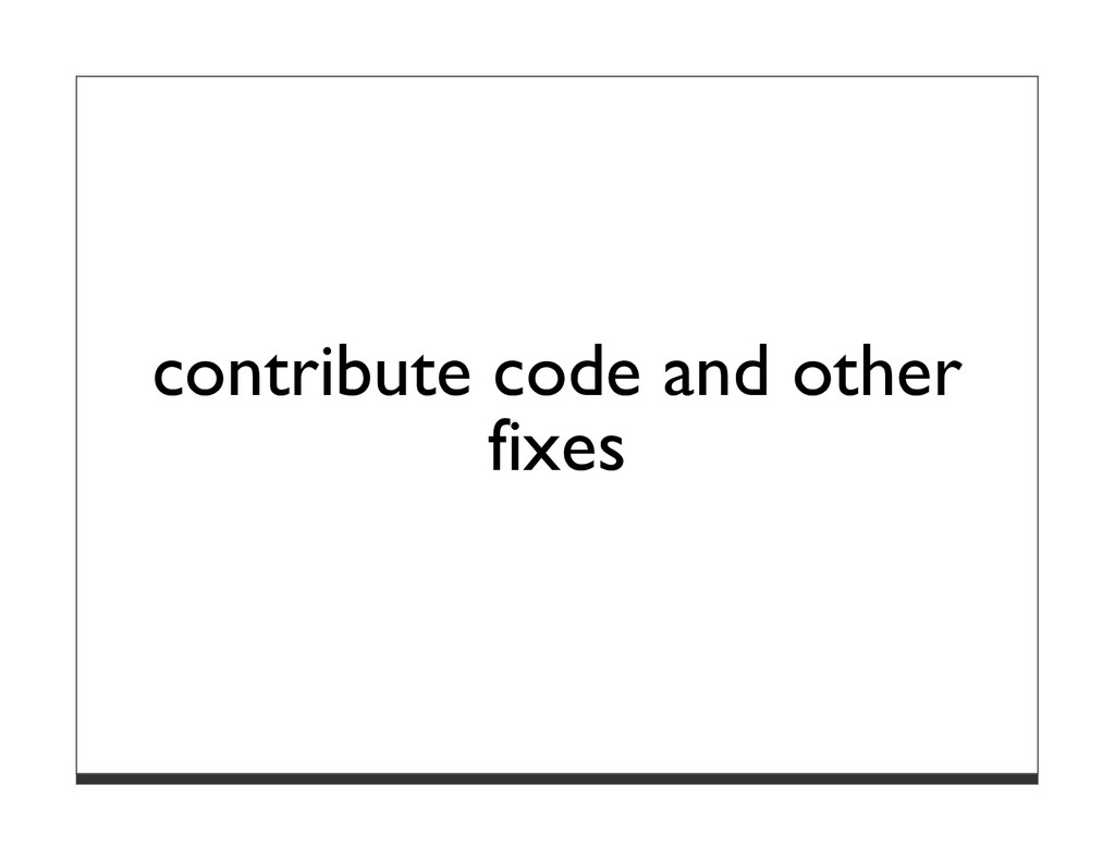 contribute code and other fixes