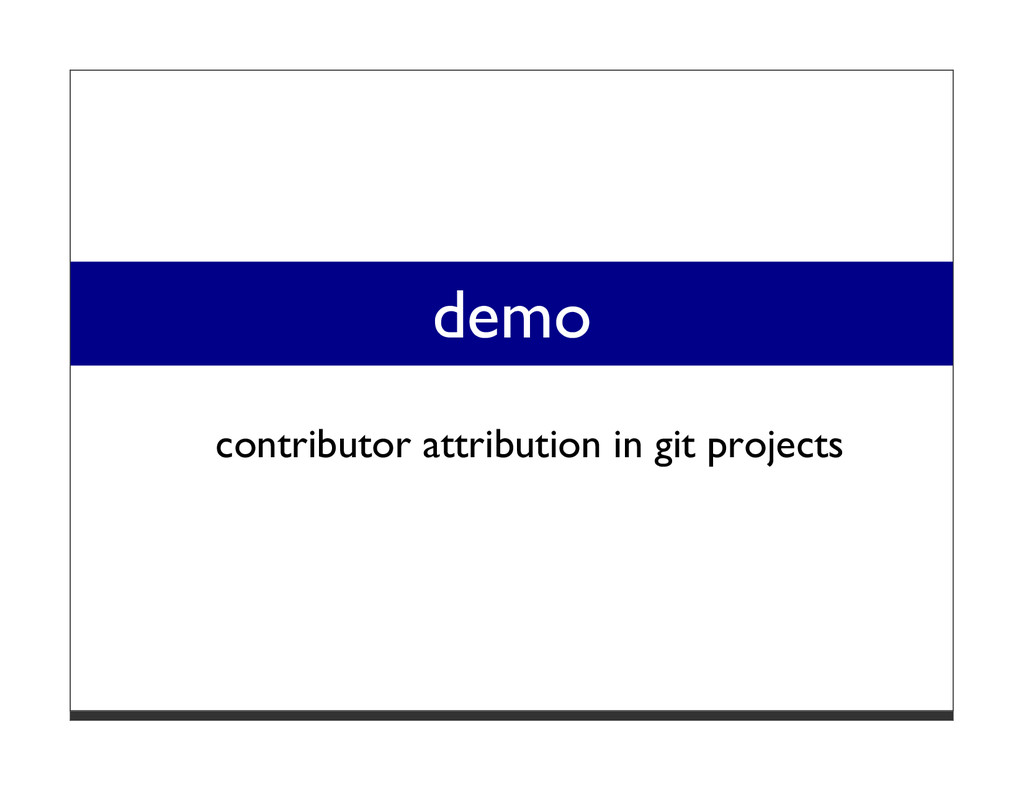 demo contributor attribution in git projects