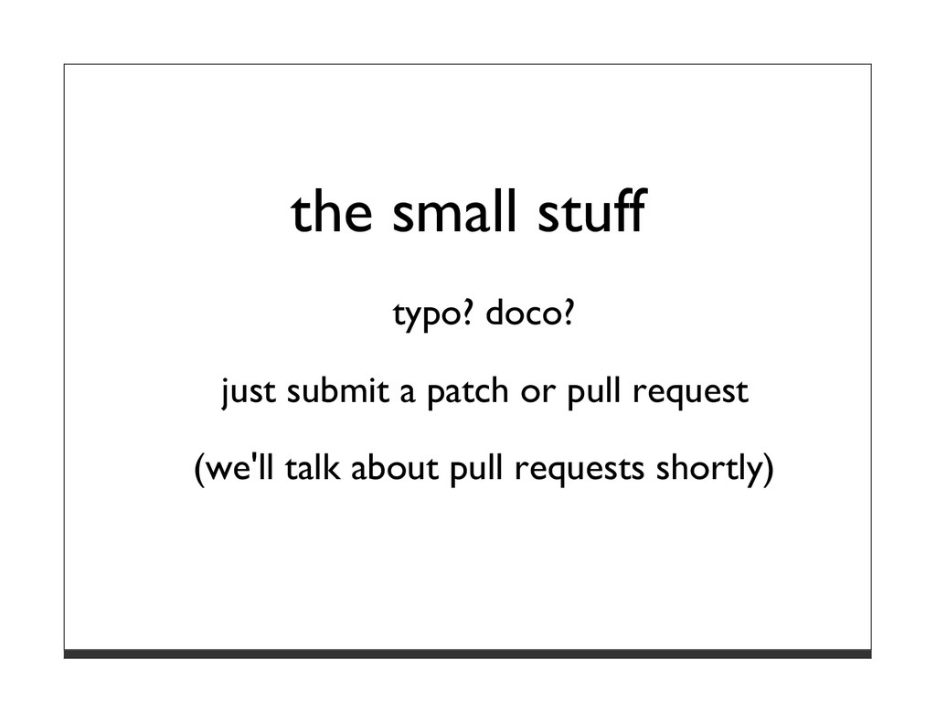 the small stuff typo? doco? just submit a patch...