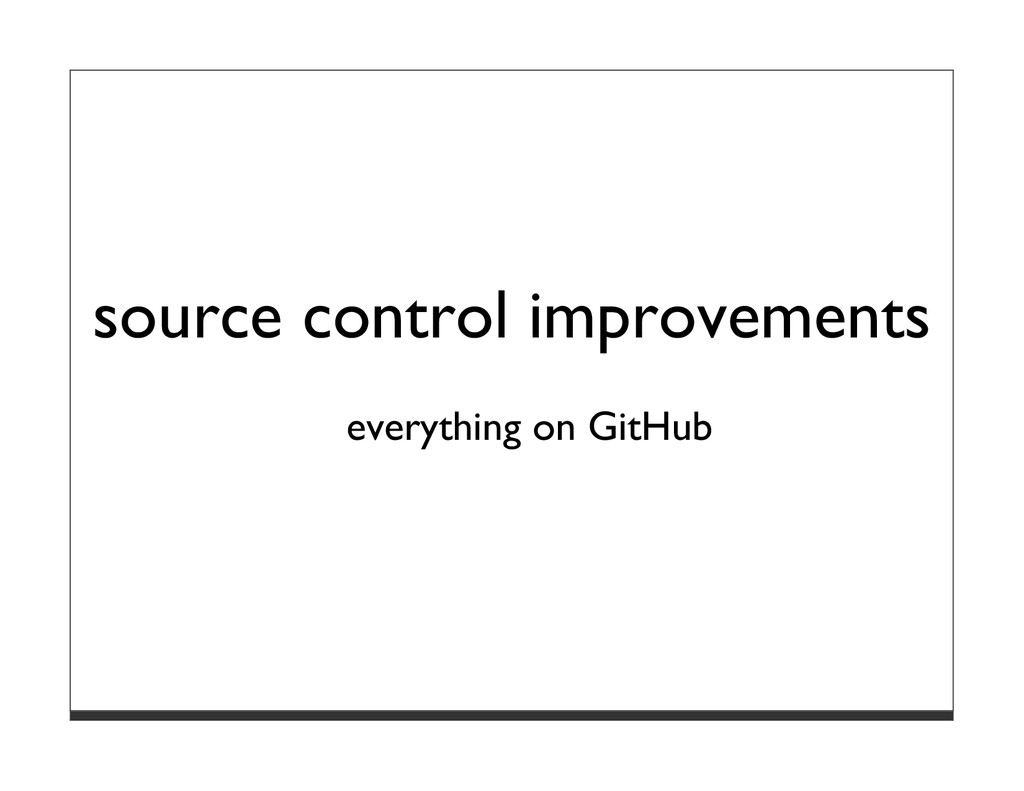 source control improvements everything on GitHub