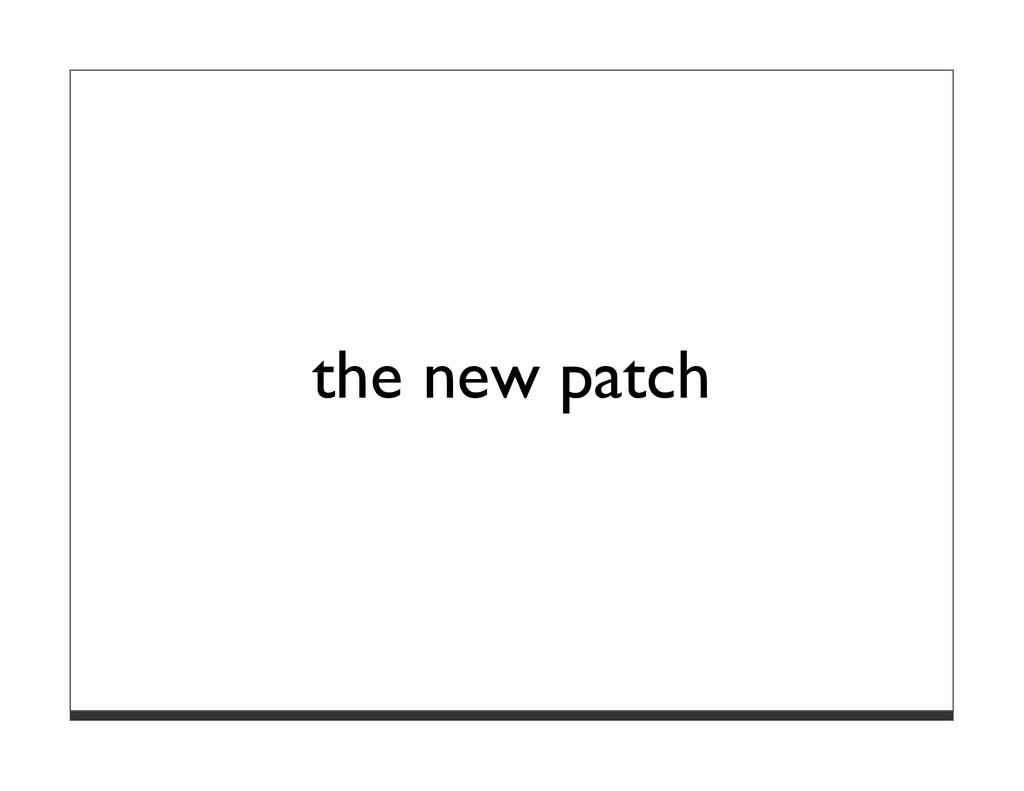 the new patch