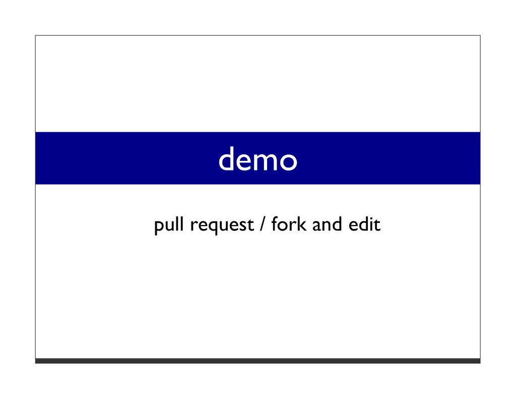 demo pull request / fork and edit